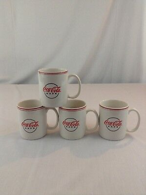Lot Of 4 Gibson Coca Cola Red White Coffee Cup Mugs Classic Drink Liquid
