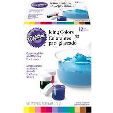 Wilton 12 pc Gel Paste Icing Colour Set