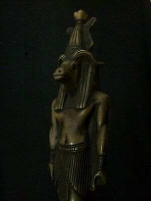 ANCIENT EGYPTIAN ANTIQUITIES EGYPT Hathor GODDESS STATUE Carved Stone 1256 BC