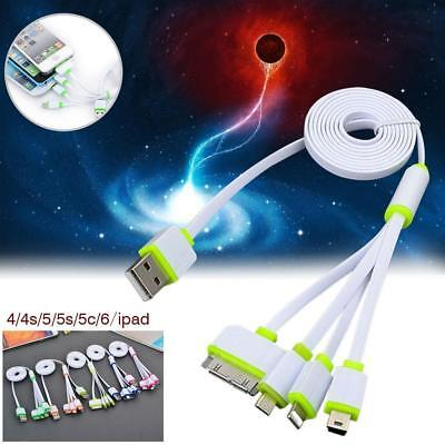 4 in 1 Multi USB 2.0 Charger Adapter Charging Cable Connectors 30P 8P mini&Micro