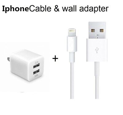 USB Home AC Wall + 8 Pin Data Sync Cable For iPhone XS X 8 8 Plus 7 Plus 6 6S 5