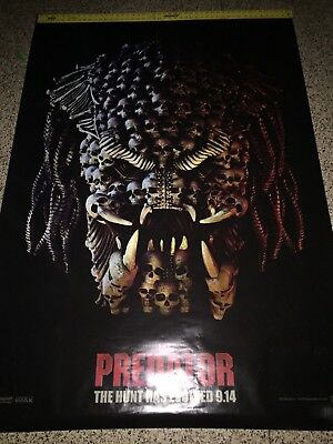 "THE PREDATOR (Teaser ""B"" 2018) Original NM DS 4'X6' BUS SHELTER POSTER (AWESOME)"