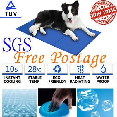 Dog Cooling Mat Gel Cat Cool Pad Non-Toxic Pet Summer Bed Mattress Durable AU