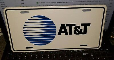 """Rare Vintage New 1984 At&t Service Vehicle License Plate """"death Star"""" Logo"""