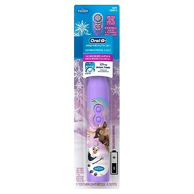 Oral B Stages Disney Frozen Kids Girl`s Electric Toothbrush Battery Magic Timer
