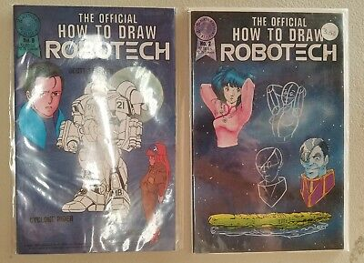 Vintage How To Draw Robotech #2 & 9 High Grade Pair