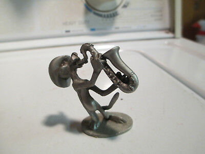 1982 Spoontiques Miniature Pewter Pink Panther Sax Player A91