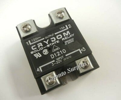 CRYDOM D1210 Solid-State Relay Input: 3-32VDC Output: 120VAC 10A