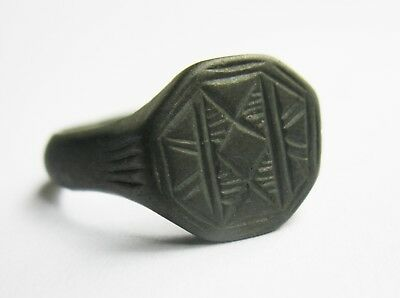 Beautiful Medieval Ring with Patterns