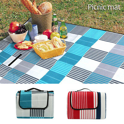 2M*2M 3-Layers Large Picnic Blanket Mat Cashmere Waterproof Rug Outdoor Camping