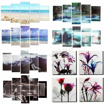 Framed Abstract Art Canvas Print Modern Oil Painting Picture Wall Art Home Decor