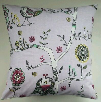 "Cushion Cover in Next Kids Sketchy Birds Owl 16"" Matches Bedding Curtains"
