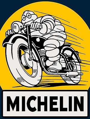 Michelin, Retro metal Sign/Plaque Wall vintage / Garage Gift