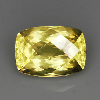 "5.35Ct Lemon Citrine ""Irregular-Rect"" Precious Faceting MQLC255"