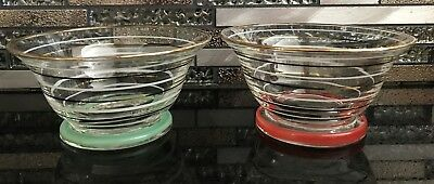 Vintage Collectable 6 x Desert Bowls Harlequin Bases  All Perfect