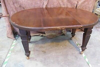 Wind out Victorian oval / round mahogany extending table leaf leave carved solid