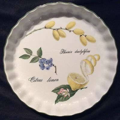 France Apilco Elysian Garden Porcelain Fruit/Lemon Dish