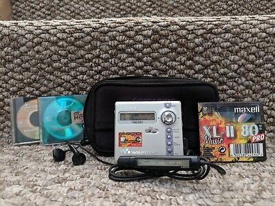 Sony MZ-N707 - Portable Minidisc Recorder  - With Accessories *MINT