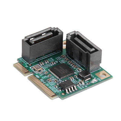 Mini PCIe PCI-Express To 2 Ports SATA 3.0 Single Chip Expansion Adapter Card