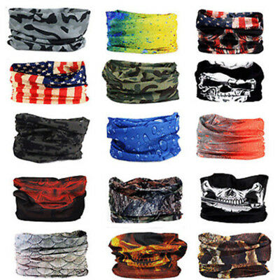 Bandana Face Shield Mask Fishing Headwear Biker Neck Tube Scarf Skull Head