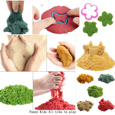 Colored Dynamic Sand Kinetic Magic Clay Amazing Indoor Play Fun Gift Toy 100g