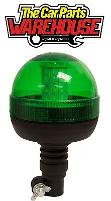 Maypole MP 40934 LED Hazard Warning GREEN FLEXI POLE MOUNT LED BEACON R10 IP66
