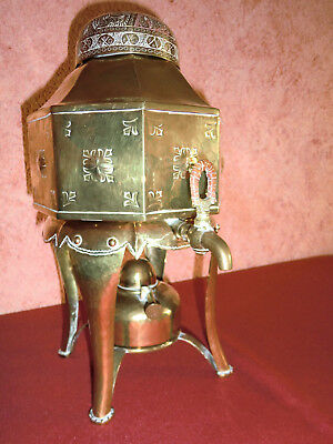 Antiker, russischer Messing Tee-Samovar, Самовар, ca. 80 Jahre, prima Zustand
