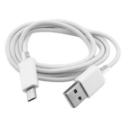 1m 8 mm Langer Stecker Micro USB Lade Daten Kabel Data Syncro Cable Long Weiß