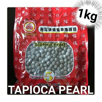 1kg🥤 WuFuYuan - Tapioca Black Bubble Boba Tea Pearls Drink [AU Seller]