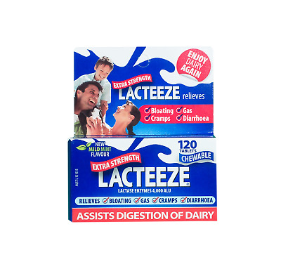 NEW Lacteeze Extra Strength 120 Tablets Assist Digestion Of Dairy