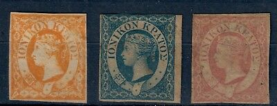 (X0191) Ionian Islands MH SG 1/3 Set, see scan, some heavy toned gum CV240$