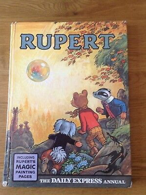 Vintage Original 1968 Rupert Bear Annual