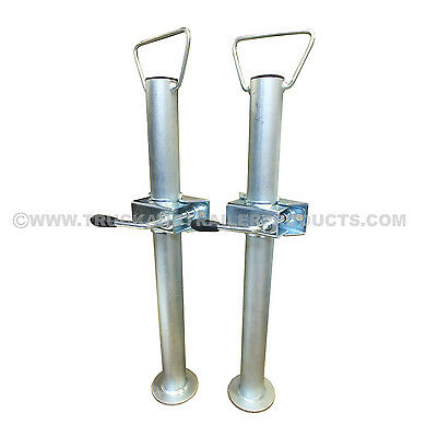 Pair Of 48Mm Prop Stands With Clamps - Trailer - Horsebox Ttl.76.1002