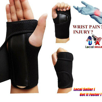 Carpal Tunnel Wrist Guard Band Brace Support Sprain Arthritis Splint Band Strap