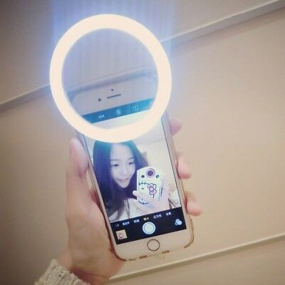 Selfie Portable LED Ring Light Camera Photography for Cell Phone Tablet CA