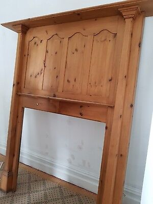 Pine Arts and Crafts/Art Deco Fire Surround