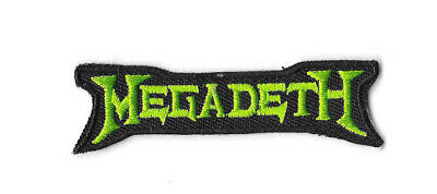 MEGADETH GREEN LOGO Iron On Patch Embroidered Badge Band Sew Music PT376