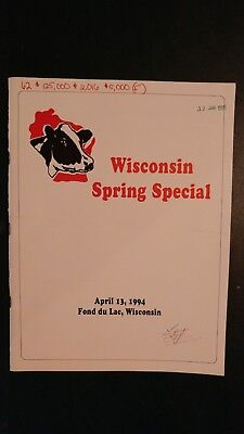 Wisconsin Spring Special Holstein Dairy Cattle Sale Catalog 1994 Fond Du Lac