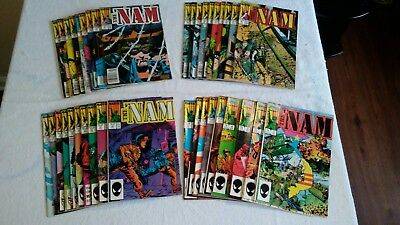 Marvels The Nam Copper Age Lot of 1-38 issues