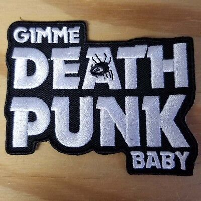 GIMME DEATH PUNK BABY embroidered Patch - Turbonegro - Punk - FREE SHIPPING!
