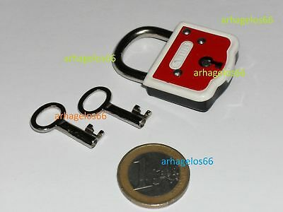 NOS RARE ABUS mini Padlock German with 2 keys in original package FREE SHIPPING