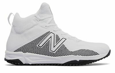 New Balance Men's FreezeLX Turf Shoes White with Silver