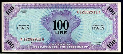 Italy Allied Military Currency 100 Lire 1943A Choice Cu/unc #c05