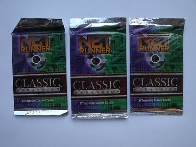 3x Netrunner Classic v2.2 Booster - Android CCG TCG - Rare - Sealed