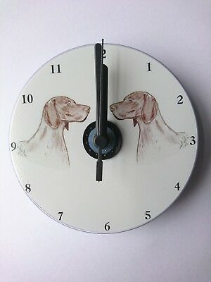 German Shorthaired Pointer CD Clock by Curiosity Crafts