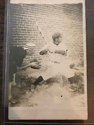 Antique Baseball Real Picture Post Card Original Early 1900s AZO