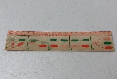 1960 Texaco Enjoy Marina Service Nautical Mile Scale Chart 7 1/2""