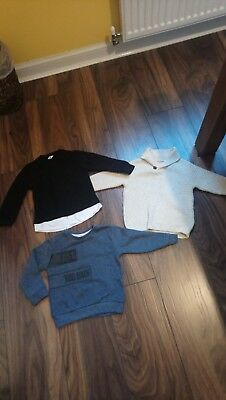 River Island Mini Boys Baby Bundle Jumpers Age 12-18 Months