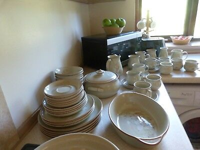 Denby Daybreak - Huge Quantity of items. Some large pieces  JOB LOT