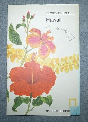 National Geographic MAP Close Up #15 Hawaii USA 1976